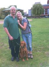 Simon, Marianne and Maddie the setter/retriever