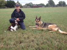 Sally with Marley and Boy