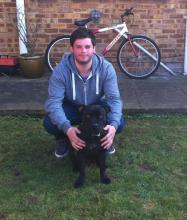 Scott and Ozzy the Staffordshire Bull Terrier