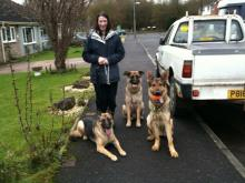 Lynne, Caspa and Sally's dogs Boy and Chiot